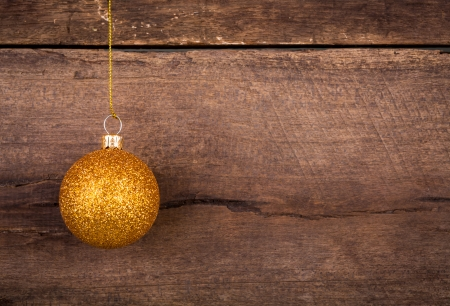 Christmas Decoration Over Wooden Background photo