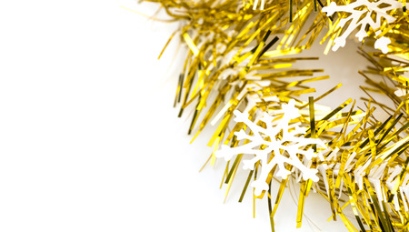 Snowflake on gold ribbon photo