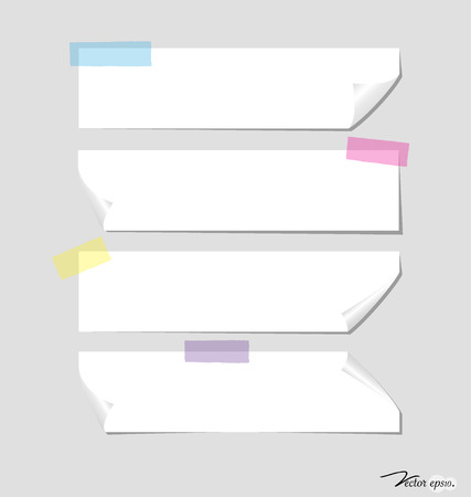 message vector: Collection of various note papers, ready for your message. Vector illustration.