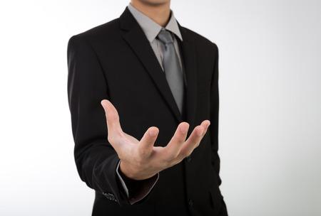 Otwarta dłoń człowieka biznesu Zdjęcie Seryjne