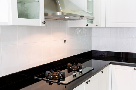Modern white clean kitchen interior photo