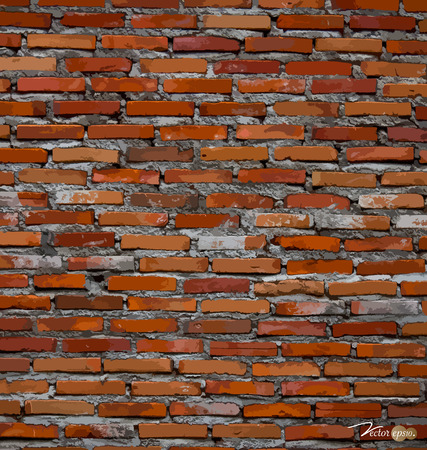 brickwall: Red brick wall background. Vector illustration.