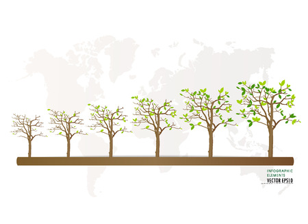 economy: Green economy concept : Graph of growing sustainable environment with business. Vector illustration.