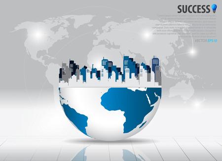real estate background: City. Vector illustration. Illustration
