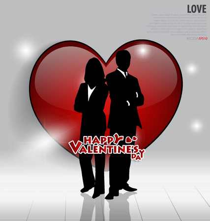 Valentines Day card. Vector illustration. Vector
