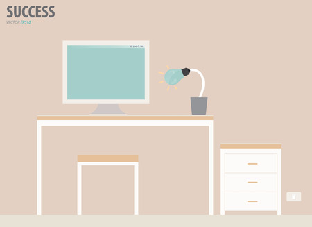 Workstation. Vector Illustration. Vector