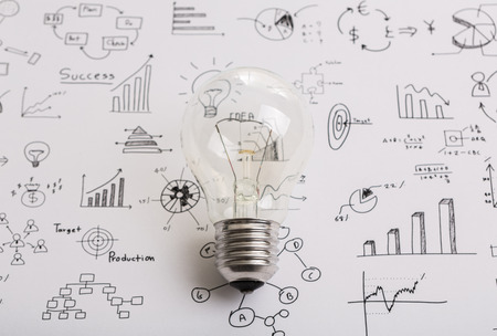 web plan: Light bulb with drawing graph