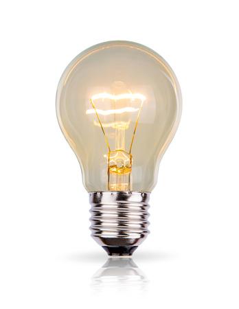 Light Bulb isolated on white background Фото со стока - 26583561
