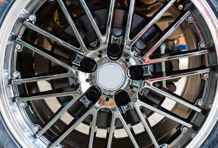 vulcanization: Car wheel Stock Photo