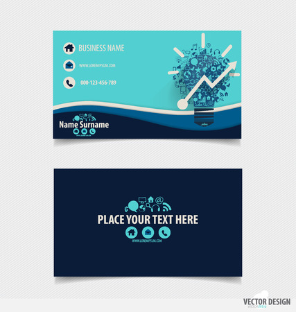 Abstract creative business card template, vector illustration. Vector