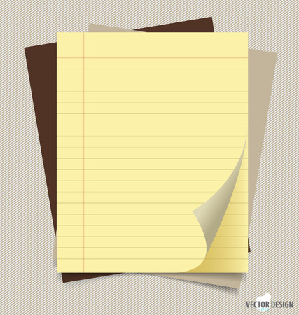 Note papers, ready for your message. Vector illustration. Vector
