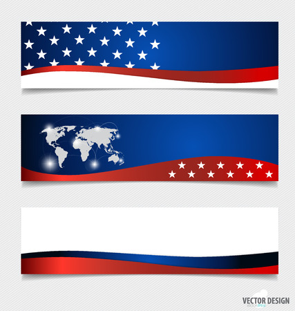 day sign: Bandera americana. Vectores