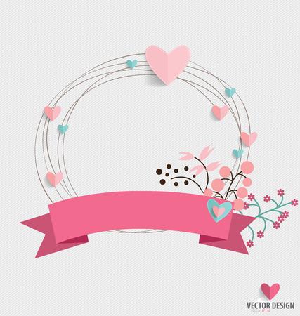aniversario de bodas: Ramos de flores con la cinta y el corazón