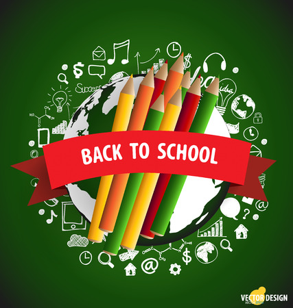 Welcome back to school, vector illustration. Vector