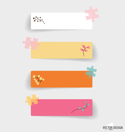 attached: Cute note papers, ready for your message. Vector illustration. Illustration