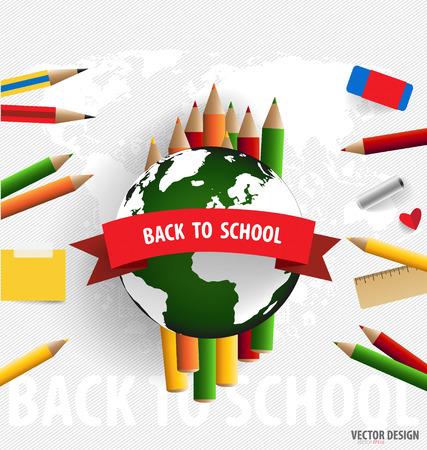 Welcome back to school, vector illustration. illustration