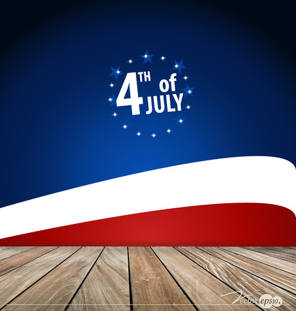 4th of July, Happy independence day United States of America. Vector illustration. Vector