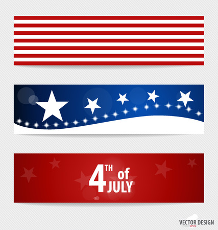 fourth: Happy independence day card United States of America. American Flag paper design, vector illustration. Illustration