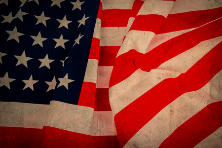 us flag grunge: American Flag Stock Photo