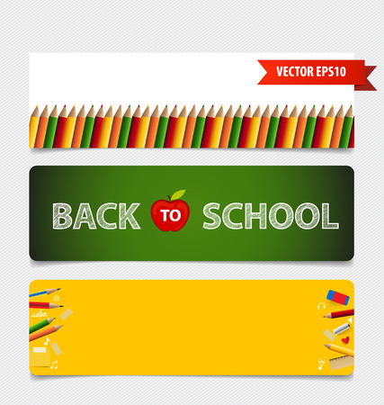 Cute note papers, welcome back to school. Vector illustration. Illustration