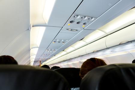 fasten: No Smoking and Fasten Seat belt Sign on Airplane