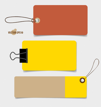 sticky note: Cute note papers, ready for your message. Vector illustration. Illustration