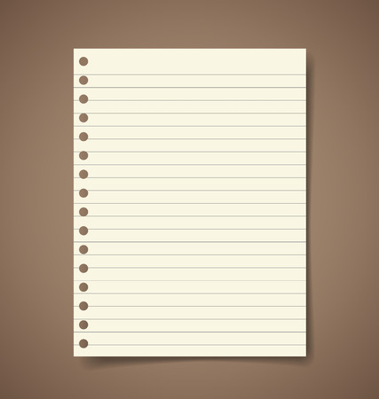 Note paper. Vector illustration. Vector