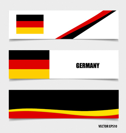Germany, Flags concept design. Vector illustration. Vector