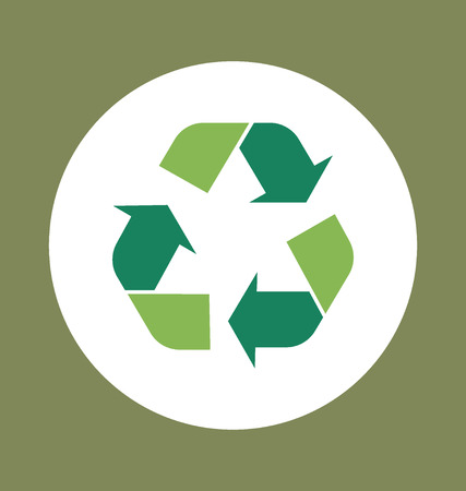 recyclable waste: Recycle symbol. Vector symbol on the packaging, vector Illustration.