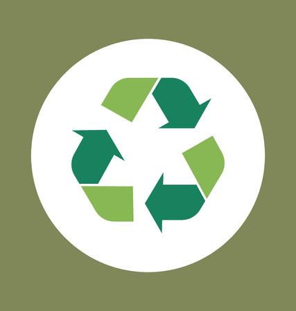 reduce reutiliza recicla: S�mbolo de reciclaje. Vector s�mbolo en el envase, ilustraci�n vectorial. Vectores