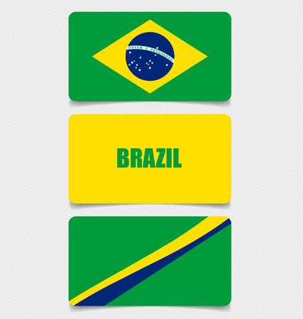 Brazil, Flags concept design. Vector illustration. Vector