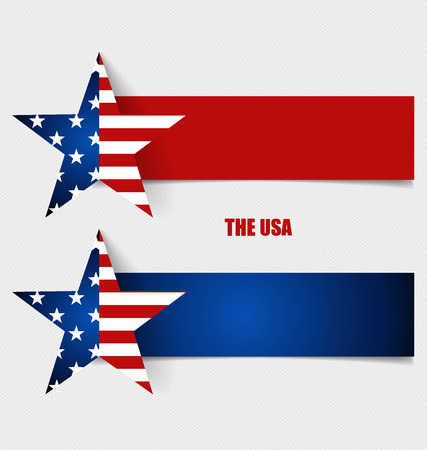 concept design: American Flag, Flags concept design. Vector illustration.