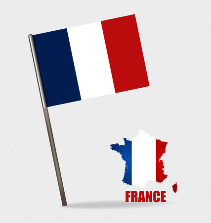 France, Flags concept design. Vector illustration. Vector