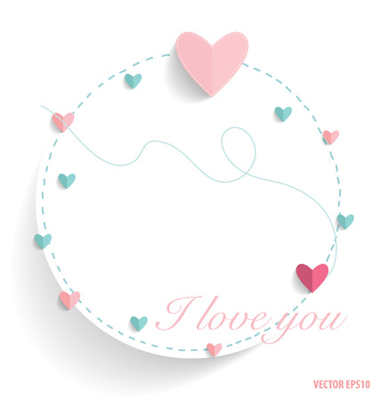 note paper: Cute note paper with hearts. Vector illustration. Illustration