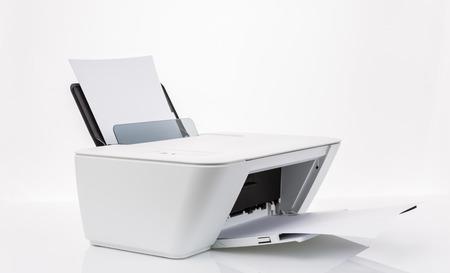 白い背景で隔離のプリンター 写真素材