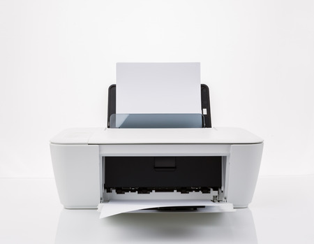 typer: Printer isolated on a white background