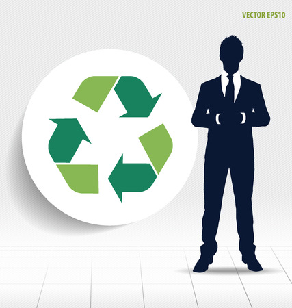 recycle symbol vector: Recycle symbol. Vector symbol on the packaging, vector Illustration.