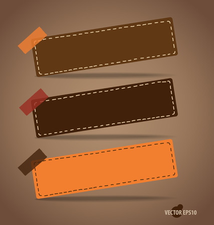 message vector: Note paper, ready for your message. Vector illustration.