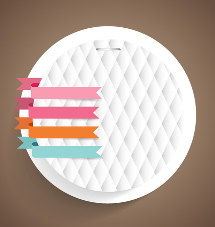 message vector: Note papers with ribbons, ready for your message. Vector illustration.