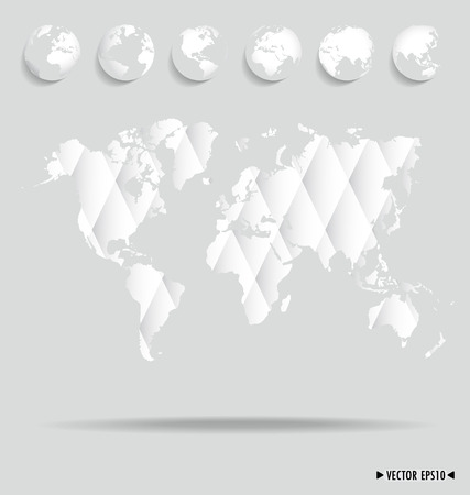 Card with world map. Vector illustration. Vector