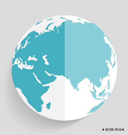Modern globe. Vector illustration. Vector