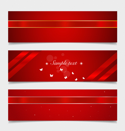 Card note with ribbons. Vector illustration. Vector