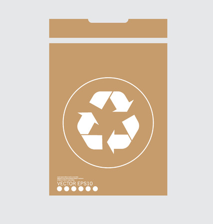 Recycle symbol. symbol on the packaging, Illustration. Vector