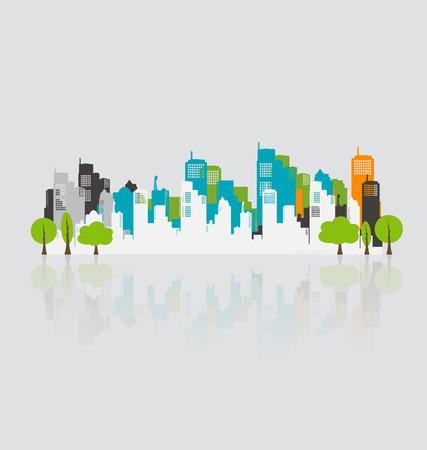 Kreatywny szablon projektu budynku, dla twojej firmy.