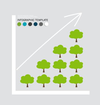 �conomie verte: Concept d'�conomie verte: Graphique de croissance durable avec l'environnement des affaires. Vector illustration. Illustration