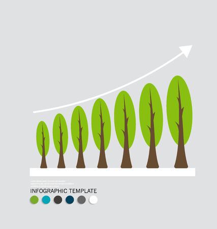 �conomie verte: Concept d'�conomie verte: Graphique de croissance durable avec l'environnement des affaires.