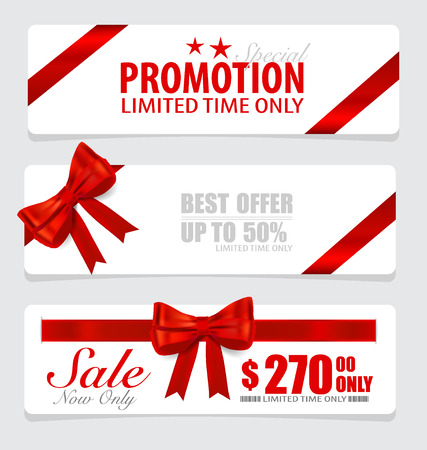 End of year sale savings labels set, price tag, sale coupon, voucher. Modern Style template Design  Vector