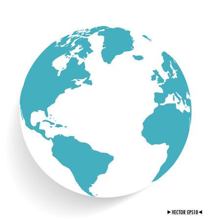 wereldbol: Moderne wereld. Vector illustratie.