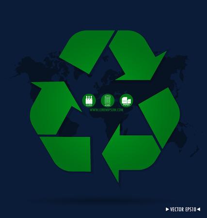 Recycle symbol. Vector
