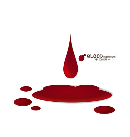Blood dripping, blood background.  Vector